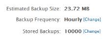 Store 10,000 Backups per Domain Profile