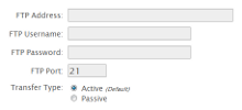 Configure FTP Backups
