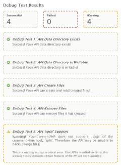 Domains: API: Debug