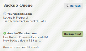 Backups: Backup Queue