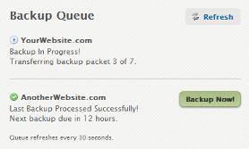 Backups: Backup Queue