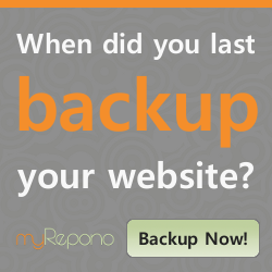myRepono - Website & mySQL Database Backup Service