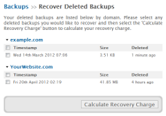Backups: Recover Deleted Backups