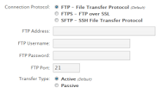 Configure FTP Backups
