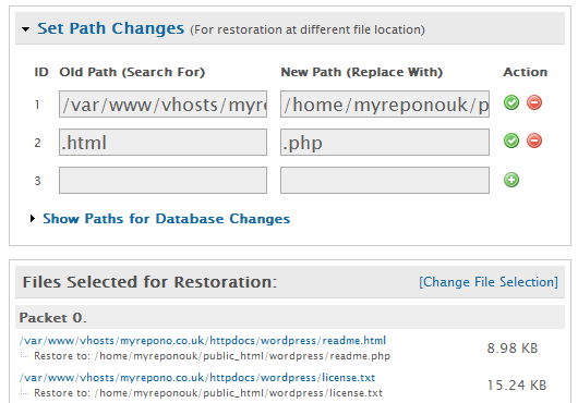 Backups: Restore Backup: Path Changes - Frequently Asked