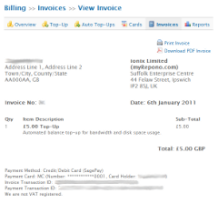 Billing: View Invoice