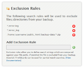 Domains: Files: Exclusion Rules